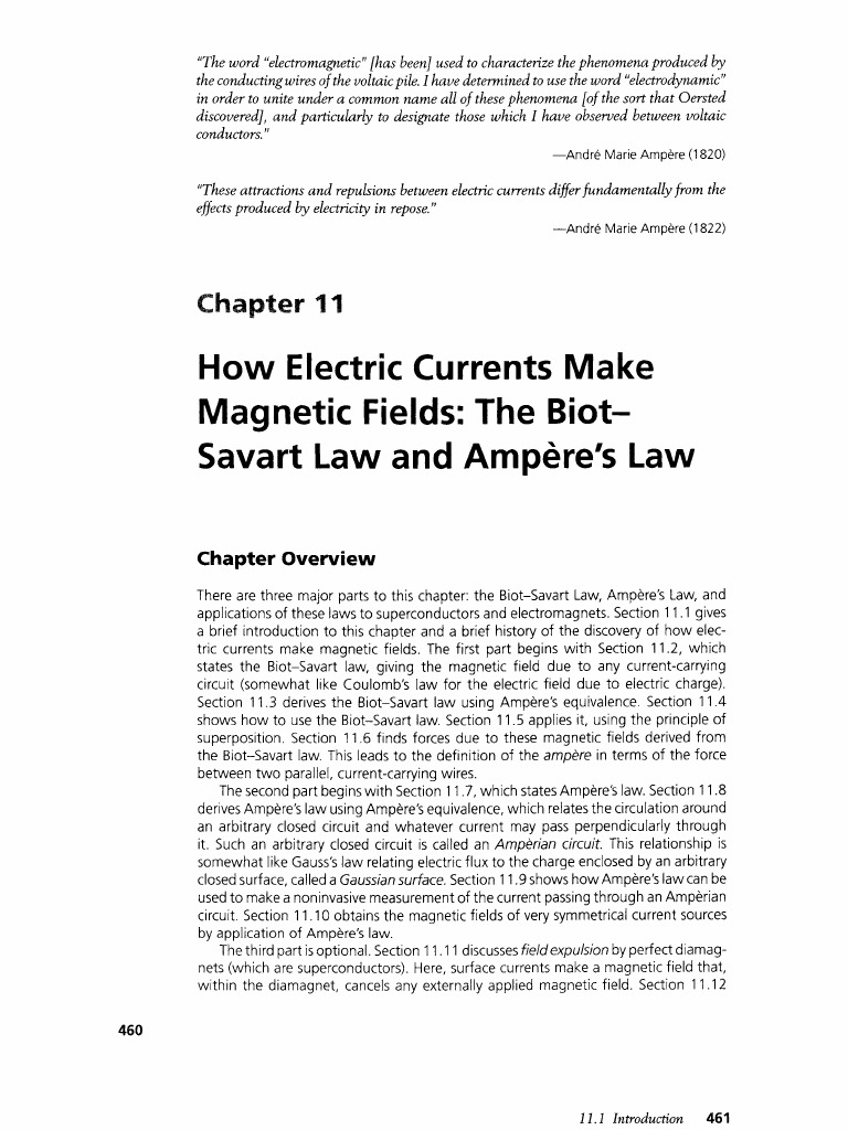 The Biot-Savart Law and Ampère's Law, physics vol | Magnetic