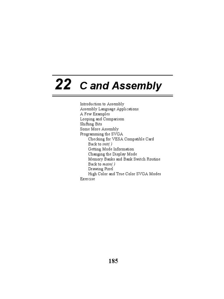 22 C and Assembly | Assembly Language | C (Programming Language)