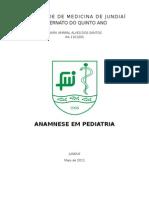 Anamnese Em Pediatria