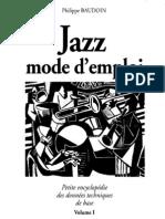 53014588 Jazz Mode d Emploi Vol 1 Baudoin