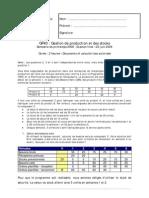 Corrige UTBM Gestion de Production Et Des Stocks 2006 IMAP