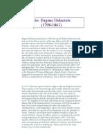 Eugene Delacroix Biography