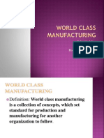 World Class Manufacturing Ppt