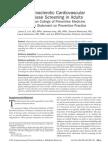 Atherosclerotic Cardiovascular Disease Screening in Adults