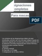 Designaciones Para Roscas