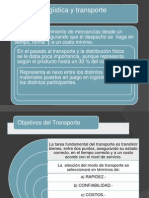 LOGISTICA TRANSPORTE-Presentación
