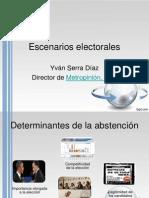 Escenarios electorales 2013