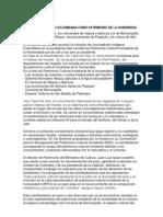 TRADICIÓN INDÍGENA COLOMBIANA COMO PATRIMONIO DE LA HUMANIDAD