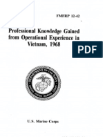 FMFRP 12-42 Professional Knowledge Gained From Operational Experience in Vietnam, 1968