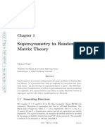 Supersymmetry in Random Matrix Theory