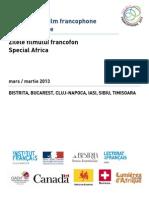 Presentation Journees Ff Afrique