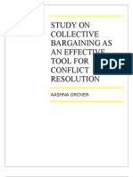 -study on Collective Bargaining as an Effective Tool for Conflict Resolution