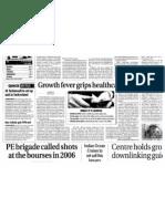 Healthcare BPO, ET Article on BPO - 8 Jan 2007