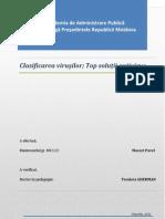 Clasificare Virusi Si Solutii Antivirus