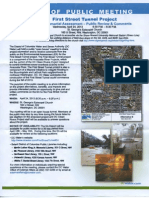 DC Water 1st Street Tunnel Project environmental assessment public review and comments - Wed, Apr 24, 2013