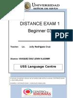 Distance Exam1 b3 April