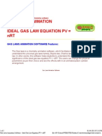Gas Laws Animation Software - Ideal Gas Law Equation PV = nRT