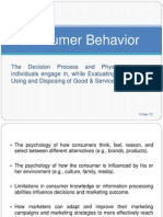 Consumer Behavior Intro