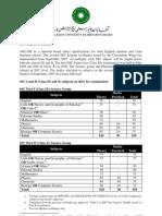 SSC Scheme of Studies