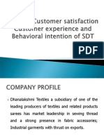 A Study Customer Satisfaction Customer Experience and Behavioral of SDT