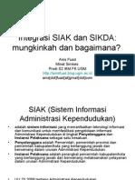 Integrasi SIAK Dan SIKDA