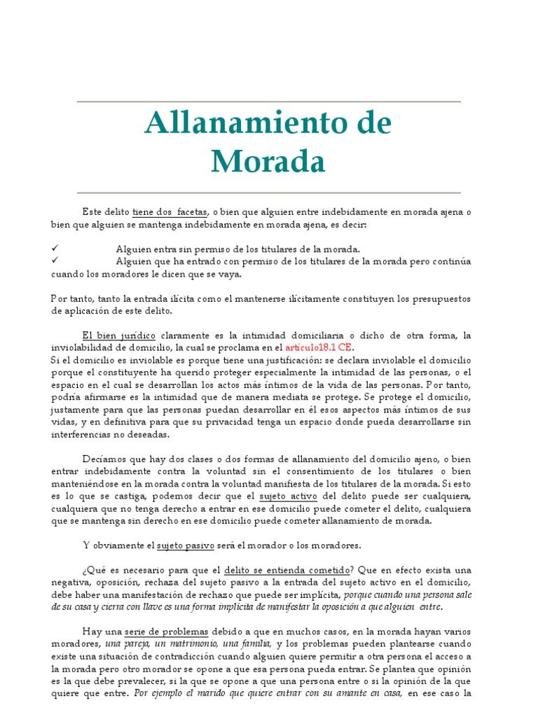 Allanamiento De Morada