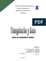 Informe de Triangulacion
