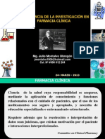 INVESTIGACIÓN EN FARMACIA CLÍNICA