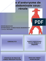 rupture d'anévrisme de l'aorte abdominale II.ppt