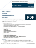 Active Directory  Procedures