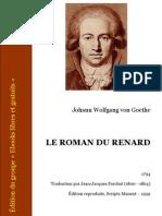 Goethe Johann Wolfgang Von-Le Roman Du Renard