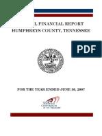 2007 Humphreys County Comptroller Report