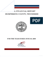2009 Humphreys County Comptroller Report