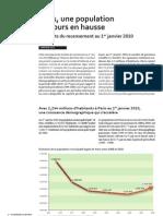 Paris 2010 Population en Hausse