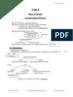 Optional Sociology 1 Basic Concepts and Social Cultural Process