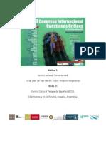Programa  del III Congreso Internacional Cuestiones Críticas