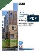 Paris l' accès au logement social 2011