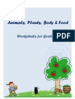 Animals Plants Body and Food Worksheets for Grade