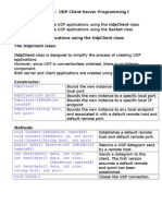 UDP Programiranje