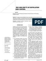 The Dos and Don's of Destillation Column Control