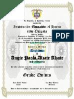 Diplomas Grado Quinto Luz Mary