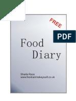 Free Food Diary