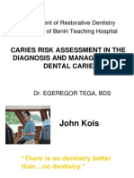 Caries Risk Assessment By Dr Tega.ppt