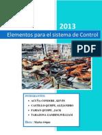 Trabajo 1- Elementos de Los Sistemas de Control