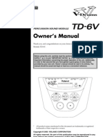 Roland TD-6V owners manual
