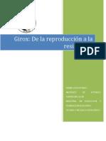 Giroux de La Reproduccion a La Resistencia Primer Semestre