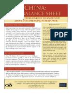 China Balance Sheet