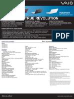 Especificaciones de la Sony Vaio VGN-P510T (PocketStyle PC)