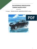 Pajero Sport Specification 111116