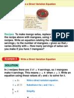 Mango Salsa Direct Variation
